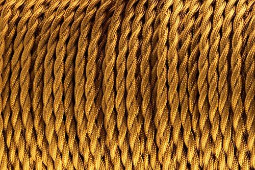 2-core-oro-intrecciato-in-seta-tessuto-lampada-cavo-flessibile-cavo