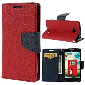 KONARRK Flip Case Cover With Stand For SAMSUNG NOTE 3 NEO i7505 (Red & Blue)