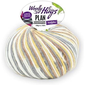 Woolly Hugs Plan Fb. 80, 100g Merinowolle extrafein mit Baumwolle ...