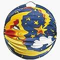 Lampion,Papierlampion 42813 Mond, schwer entflammbar, D 24 cm bunt von Kögler
