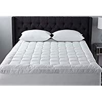 Kuber Industries Soft Microfibre 500 GSM Mattress Padding/Topper for Comfortable Sleep -White -6ft x 5ft - Queen (72x60inch)