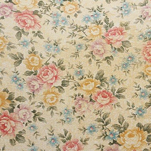 Bluelover 200Cm Flower Dots Aufkleber Regal Schrank Schublade Liner Küche Schrank Tisch Matte Pad Home Decor-Pfingstrose