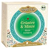 Hari Tea Bio Grüntee & Minze Teemischung, 2er Pack (2 x 20 g)