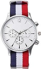 FITT Orologi da polso analogici della vigilanza degli uomini della tela degli orologi degli uomini di lusso per retro impermeabile maschio