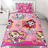 PAW Patrol Kinder Bettwäsche Mikrofaser 2-tlg. Garnitur für Kinderbett Bettset Mädchen rosa