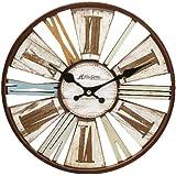 Widdop Horloge Murale Moderne Dans Les Tons Bruns Effet De Découpe Contemporain