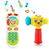 VATOS Juguete de Control Remoto Juguetes Martillo para Bebés de 12 a 18 Meses para Arriba Juguetes para Niños Iluminación y S