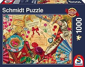Schmidt Spiele 58218 - Cartas de Amor de la Vendimia, 1.000 Piezas, Rompecabezas clásico