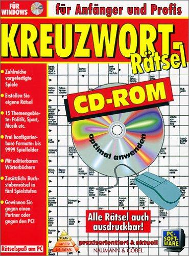 Preisvergleich Produktbild Kreuzworträtsel. CD- ROM für Windows 3.1 / 3.11 / 95. Für Anfänger und Profis. Alle Rätsel auch ausdruckbar