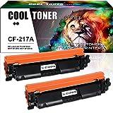 Cool Toner 2 Pack Kompatibel für CF217A 17A Toner (MIT CHIP) Kompatibel für HP Laserjet Pro MFP M130fw HP Laserjet Pro MFP M130nw M130 HP Laserjet M102w M102 MFP M130fn Laserdrucker Patronen Schwarz