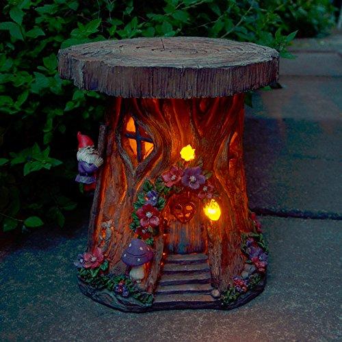 XSS Solar Powered Tree House LED Garden Ornament Patio Outdoor Decoration Lighting
