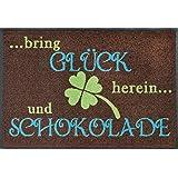 Image of wash + dry - Mat Glück und Schokolade 50x75, Brown - Comparsion Tool