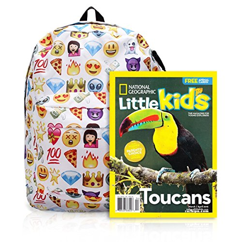 61VCSJ6MNCL. SS500  - KING DO WAY Emoji School Bag Backpack Canvas Laptop for Boys Girls Student Travel Books Shoulder Bag