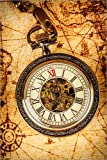 Posterlounge Acrylglasbild 120 x 180 cm: Taschenuhr auf Karte von Editors Choice - Wandbild, Acryl Glasbild, Druck auf Acryl Glas Bild