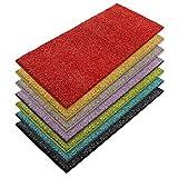 casa pura Teppich Läufer Luxury | Moderne Shaggy Optik mit flauschigem Hochflor | Teppichläufer in vielen Farben für Flur, Schlafzimmer, Wohnzimmer etc. | viele Breiten und Längen (66 x 100cm, rot)