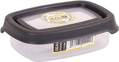 Wham Seal It Rectangular Food Box, Graphite - 115 Ml - Clear/Graphite