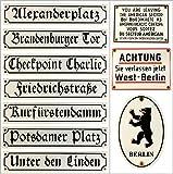Strassenschild Kurfürstendamm 40x8 cm Emaille Schild Berlin Souvenir berliner Andenken
