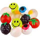 Kicko Sticky Splat Ball - 12 Pack - Squishy Assortment Creations - Novelty Toy Collection, Stress-Reliever, for Kids, Game Gi