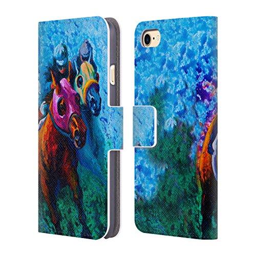 Ufficiale Marion Rose Cavalli Free Range Cavallo Cover a portafoglio in pelle per Apple iPhone 6 Plus / 6s Plus Sangue Blu