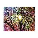 Felicove 5D Diamant Full Baum und Licht DIY Stickerei Painting Kreuz Stich Diamond Dekoration