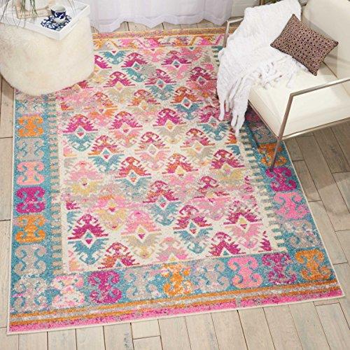 NOURISON Teppich Mondrian Passion Teppich, Polyester, Elfenbein, 175x 114x 1cm - Elfenbein Blumen-bereich Teppich