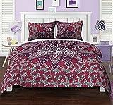 Queen Baumwoll Indisch Mandala Bettbezug Bettwäsche Set Gedruckte Blumen Ethnische Rosa Steppdecke Abdeckung durch Stylo Kultur