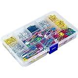 500 Piezas Imperdibles con Cajas de Plástico, Tamaño Surtido Grandes y Pequeños Safety Pins, Seguridad Alfileres para Costura