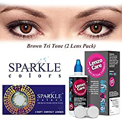 Sparkle Monthly Contact Lens - 2 Units (-8.5, Brown)