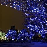 Samoleus 200 LED 22M Luci Della Stringa Solare Del, Catene Luminose da Esterno IP44 Impermeabile per Di Natale Luci, Matrimonio,Festino (Blu-200 LED 22M)