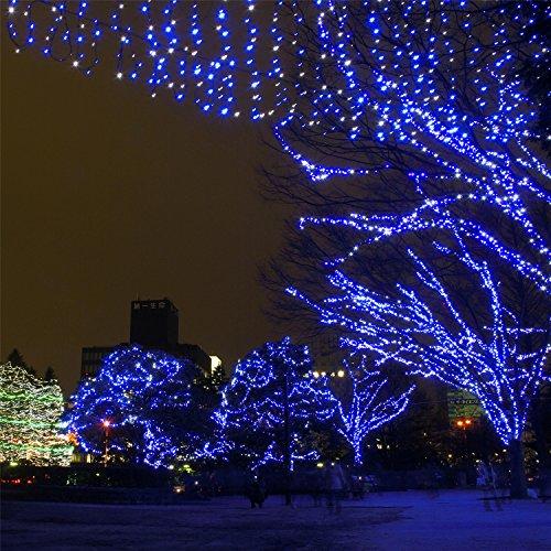 Samoleus 22M 200 LED Lichterkette mit EU-Stecker, 8 Mode Weihnachten Beleuchtung Innen, Sternen LED Lichterkette für Party, Garten, Weihnachten (Blau-22M) (Trauben-weihnachtsbeleuchtung)