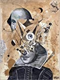 Posterlounge Alu Dibond 30 x 40 cm: Shakespeare as an Abstract Concept von Loui Jover