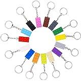 INTVN Attache Porte clés, Brique Porte-Clés (2 x 4), Porte-clés Key Brick-Bloc de Construction, Enfants Sac de fête d'anniver