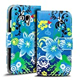 Verco Handyhülle Galaxy S3 Mini Muster, Motiv Hülle für Samsung Galaxy S3 Mini Book Case Flip Cover - Design 14