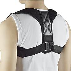 Leoie Unisex Adjustable Posture Corrector Upper Back Support Brace Corset Clavicle Correction Belt