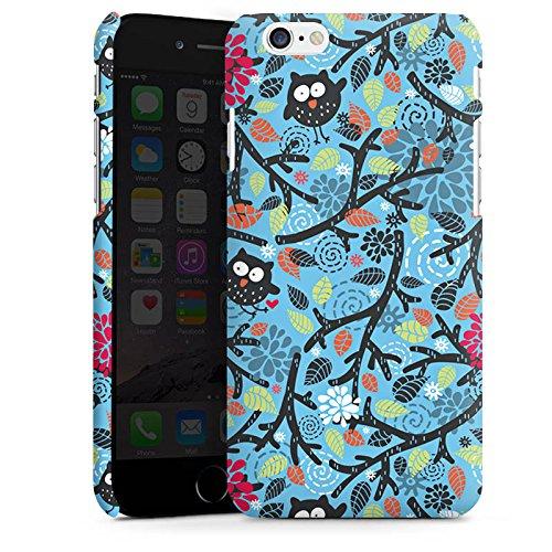 Apple iPhone X Silikon Hülle Case Schutzhülle Eulen Muster Blätter Premium Case matt