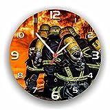 Roter Hahn 112 Hochwertige Feuerwehr Wanduhr Uhr 112 PROZENT/Rüdiger Piorek Edition/25cm/Geräucharm für Roter Hahn 112 Hochwertige Feuerwehr Wanduhr Uhr 112 PROZENT/Rüdiger Piorek Edition/25cm/Geräucharm