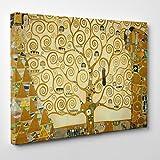 Gemälde auf Leinwand,Motiv: Lebensbaum, Gustav Klimt, gerahmt, bereit zum Aufhängen,Kultur, Kunst, Art Nouveau, Jugendstil Dimensione: 50x70cm A - Senza Cornice