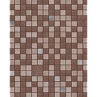Küchen Bad Tapete EDEM 1033 17 Vinyltapete Geprägt Mit Geometrischen Formen  Und Metallischen Akzenten Braun