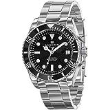 LANDWIN orologio da polso da uomo automatico orologio subacqueo bracciale in acciaio inossidabile analogico orologio…