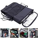 #8: Karp Multi-functional Heat-Preservation Car Seat Organize Insulated Car Seat Back Drinks Holder Cooler / Storage Bag Cool Wrap Bottle Bag with Mesh Pockets (Black)