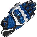 S1 Guantes de Cuero para Moto Anti-caída Antideslizante Respirable Guantes Llenos de Dedos para Equitación al Aire Libre, Equ