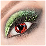 Giftauge Farblinsen 1 Paar deckend grau - schwarze Crazy Fun Mirror Kontaktlinsen ohne Stärke + Behälter und Pflegemittel von Giftauge. Perfekt zu Halloween, Karneval, Fasching, Fasnacht oder Cosplay, Manga und Zombie Kostüme.