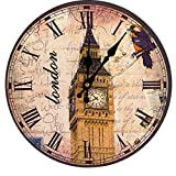 LoKauf Wanduhr Vintage 30cm Uhren DIY wall Hanger Wand