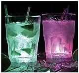 Lunartec Gläser mit LED Licht: Longdrink-Gläser mit LED-Farbwechsler, 2er-Set (LED Becher)