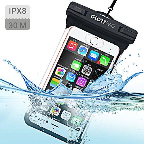 Glorybag - Premium wasserdichte Handyhülle - mit Touch ID Fingerprint - hochwertiges Handycase für Extreme Bedingungen - optimale Schutzhülle zum praktischen Outdoor-Einsatz für alle Smartphones Button Up Band