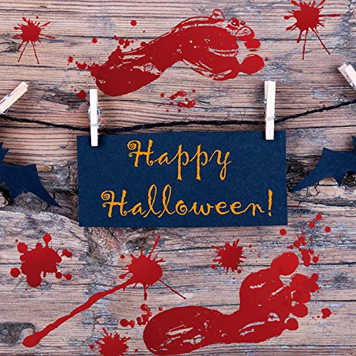 Wandaufkleber Horror Halloween Parodie Bar Ecke Tür Und Fenster Blut Fußabdruck Wohnzimmer Hintergrund Dekoration 30X45 cm