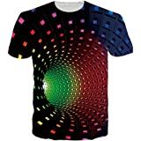 NEWISTAR Unisexe 3D imprimé T-Shirts pour Homme Femme
