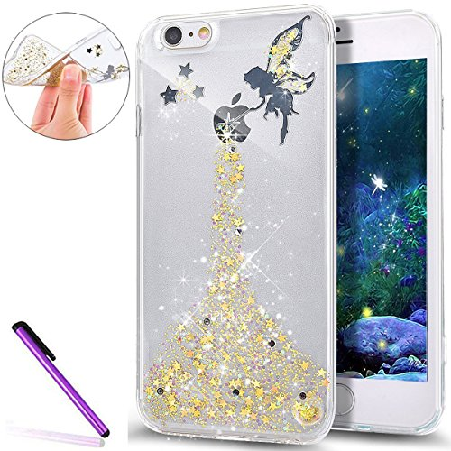 iPhone 6S Hülle Silicone,iPhone 6S Hülle Glitzer,iPhone 6 Hülle Rosa,EMAXELERS iPhone 6S Plating Gold TPU Bumper Case Soft Silikon Gel Schutzhülle Hülle für iPhone 6 4,7 Zoll,iPhone 6S Hülle Glitzer D Z TPU 6
