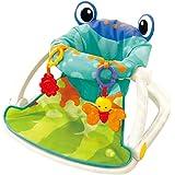 مقعد ارضي للاطفال بلوحة انشطة، كرسي جلوس للرضع للعب والتغذية (ازرق)