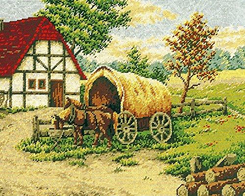 'Kamaca–Stick de/completo kamaca en la granja–Cuadro de gobelino 40cm x 50cm